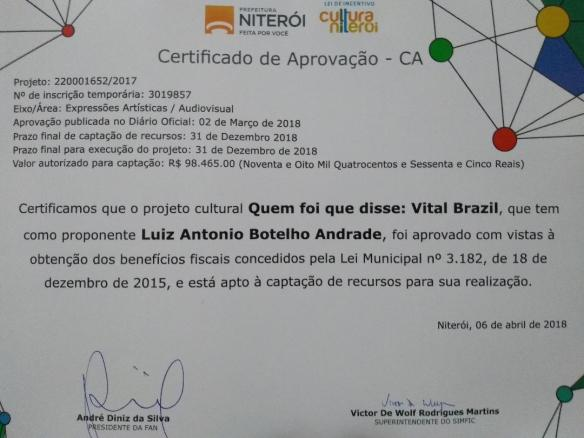 Certificado de Aprovação